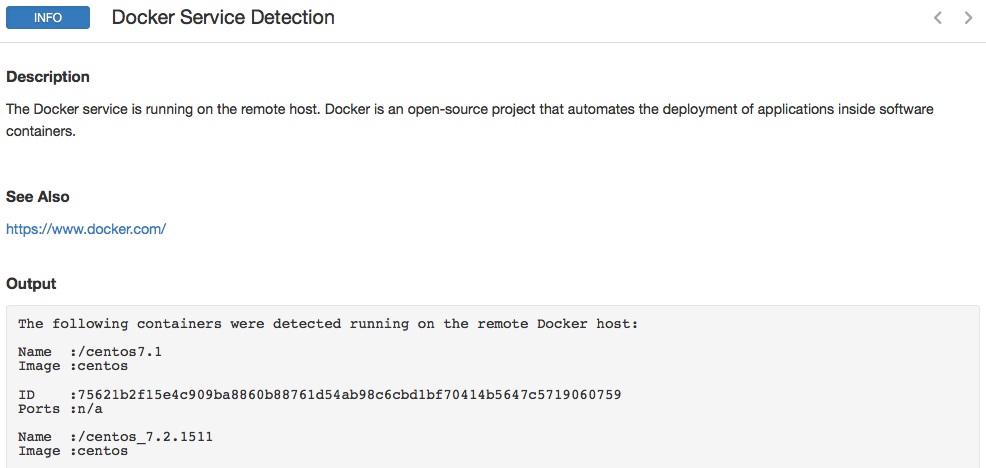 Docker Detection